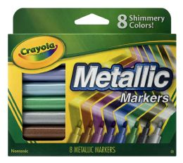 6 of Crayola 8 Metallic Markers