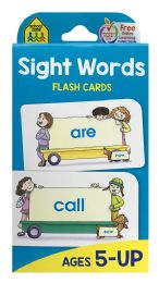 8 of School Zone Sight Words Flash Cards