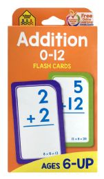 8 of School Zone Addition Flash Cards 0-12
