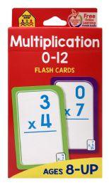 8 of School Zone Multiplication O-I2 Flash Cards