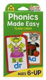 8 of School Zone Phonics Made Easy Flash Cards