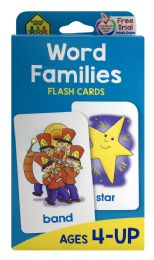 8 of School Zone Flash Cards Word Families