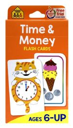 8 of School Zone Time & Money Flash Cards