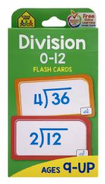 8 of School Zone Division 0-12 Flash Cards