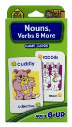 8 of School Zone Nouns, Verbs & More Game Cards