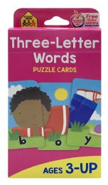 8 of School Zone Three-Letter Words Puzzle Cards