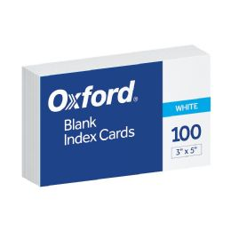 10 of Oxford Blank Index Cards, 3 Inch X 5 Inch, White, 100 Per Pack