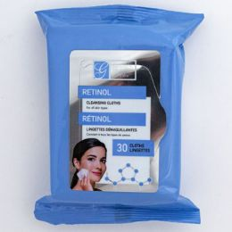 24 of Facial Wipes 30ct Retinol Makeup Cleansing In 24pc Pdq