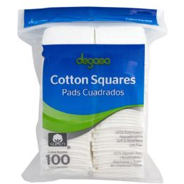 48 of Cotton Squares 100ct 100% Cotton