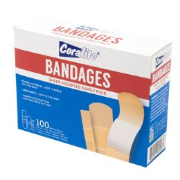 48 of Bandages 100ct Family Pack