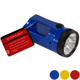 24 of Flashlight Led 4.84in 3ast Clr W/handle Blue/yell/red Hdwr ht