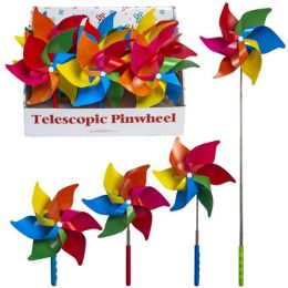 24 of Pinwheel Rainbow Telescopic Extends To 28in 12pc Pdq