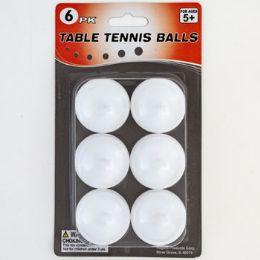 48 of Table Tennis Balls 6pk White Blister Card
