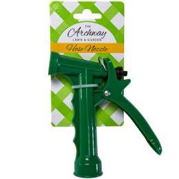 48 of Hose Nozzle Plastic Pistol Green 5in L/garden Tie On Card