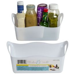 36 of Refrigerator Condiment Caddy White Plastic Color Label