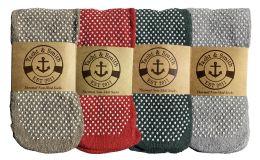 48 of Yacht & Smith Non Slip Gripper Bottom Womens Winter Thermal Slipper Tube Socks Size 9-11