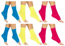60 of Yacht & Smith Womens Assorted Color Open Toe Flip Flop Pedicure Socks