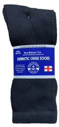 240 of Yacht & Smith Men's Loose Fit NoN-Binding Soft Cotton Diabetic Crew Socks Size 10-13 Black