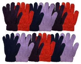 120 of Yacht & Smtih Womens Assorted Colors Warm Fuzzy Gloves