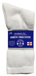 72 of Yacht & Smith Women's Cotton Diabetic NoN-Binding Crew Socks - Size 9-11 White