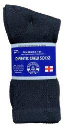 48 of Yacht & Smith Women's Cotton Diabetic NoN-Binding Crew Socks Size 9-11 Black