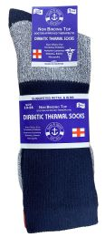 120 of Yacht & Smith Mens King Size Thermal Ring Spun Non Binding Top Cotton Diabetic Socks With Smooth Toe Seem