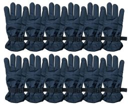 48 of Yacht & Smith Men's Winter Warm Ski Gloves, Fleece Lined With Black Gripper Water Resistant