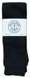 48 of Yacht & Smith 31 Inch Men's Long Tube Socks, Black Cotton Tube Socks Size 10-13