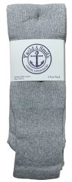 240 of Yacht & Smith Men's Cotton 31 Inch Tube Socks, Referee Style, Size 10-13 Solid Gray