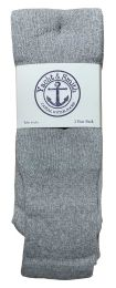 120 of Yacht & Smith Men's 32 Inch Cotton King Size Extra Long Gray Tube SockS- Size 13-16