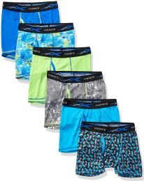 144 of Hanes Boys Boxer Brief Assorted Prints Size Large