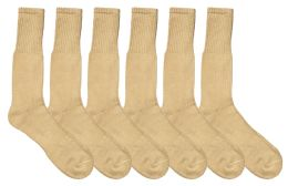 72 of Yacht & Smith Men's Army Socks, Military Grade Socks Size 10-13 Solid Khaki