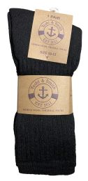 240 of Yacht & Smith Mens Terry Line Merino Wool Thick Thermal Boot Socks, Solid Black