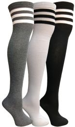 48 of Yacht & Smith Womens Over The Knee Referee Thigh High Boot Socks