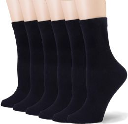 72 of Fruit Of The Loom Crew Sock For Woman Shoe Size 4-10 Black