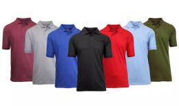 144 of Gildan Mens Assorted Color And Sizes Irregular Polo Golf Shirts