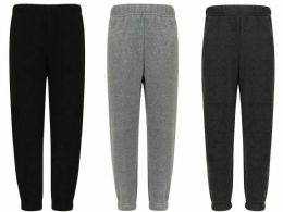 96 of Mens Assorted Colors And Sizes Polar Fleece Sweatpants With Side Pockets
