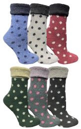48 of Yacht & Smith Womens Thick Soft Knit Wool Warm Winter Crew Socks, Patterned Lambswool, POLKA DOT