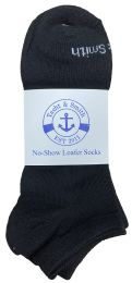 72 of Yacht & Smith Mens 97% Cotton Low Cut No Show Loafer Socks Size 10-13 Solid Black