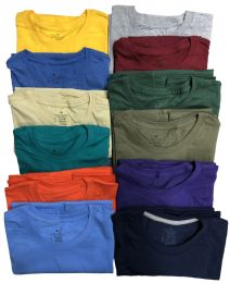 144 of Mens Cotton Short Sleeve T Shirts, Mix Colors ,Size Large