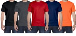 72 of Mens Plus Size Cotton Short Sleeve T Shirts Assorted Colors Size 5XL