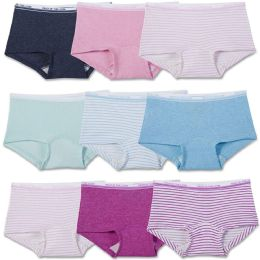 288 of Girls Fruit Of The Loom Boy Shorts Underwear Briefs and Panty Assorted Sizes 4-14