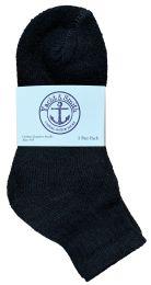 48 of Yacht & Smith Kids Cotton Quarter Ankle Socks In Black Size 6-8 Bulk Pack