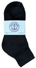 60 of Yacht & Smith Kids Cotton Quarter Ankle Socks In Black Size 6-8 Bulk Pack