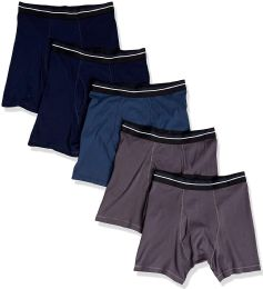 120 of Yacht & Smith Mens 100% Cotton Boxer Brief Assorted Colors Size Large