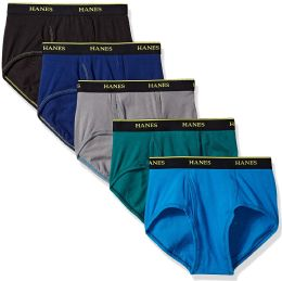 144 of Mens Hanes Assorted Colors And Sizes Brief Underwear, Cotton Tagless Underwear For MenM-XXL