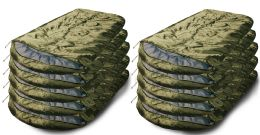 30 of Yacht & Smith Temperature Rated 72x30 Sleeping Bag Solid Olive Green