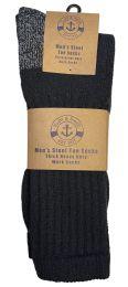 48 of Yacht & Smith Men's Heavy Duty Steel Toe Work Socks, Black, Sock Size 10-13