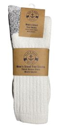 120 of Yacht & Smith Men's Heavy Duty Steel Toe Work Socks, White, Sock Size 10-13