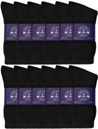 48 of Yacht & Smith Womens Cotton Black Crew Socks, Sock Size 9-11